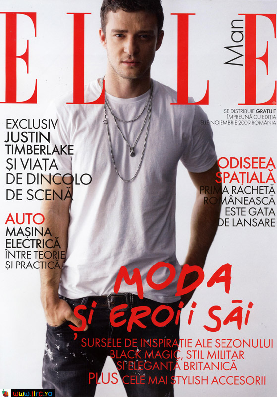 Elle Man ~~ Cover: Justin Timberlake ~~ Noiembrie 2009
