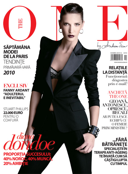 The One ~~ Cover girl Diana Dondoe ~~ Noiembrie 2009