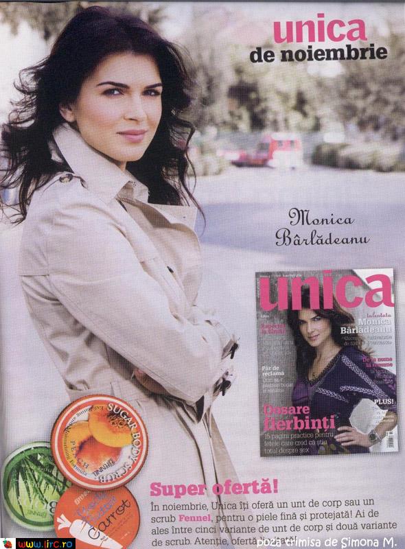 Unica ~~ Monica Barladeanu ~~ Promo cadou produse Fennel ~~ Noiembrie 2009