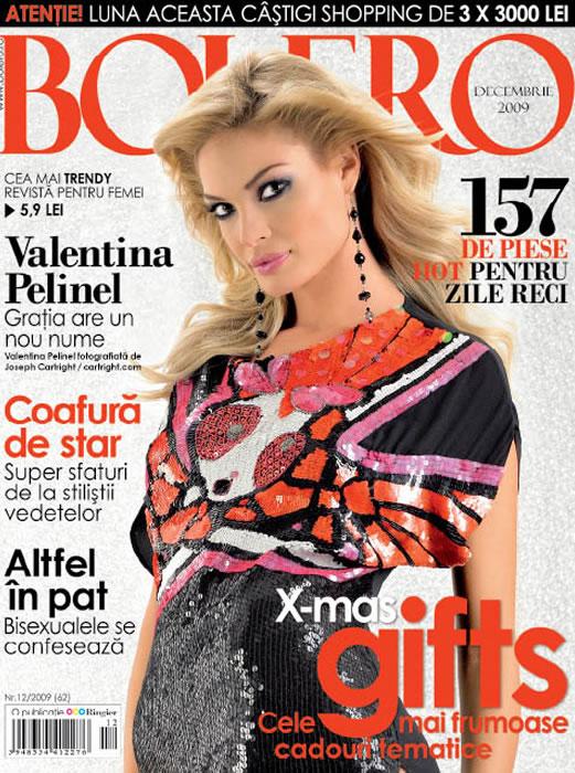 Bolero ~~ Coperta: Valentina Pelinel ~~ Decembrie 2009
