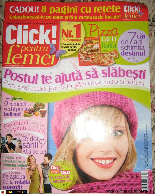 Click pentru Femei ~~ 27 Noiembrie 2009