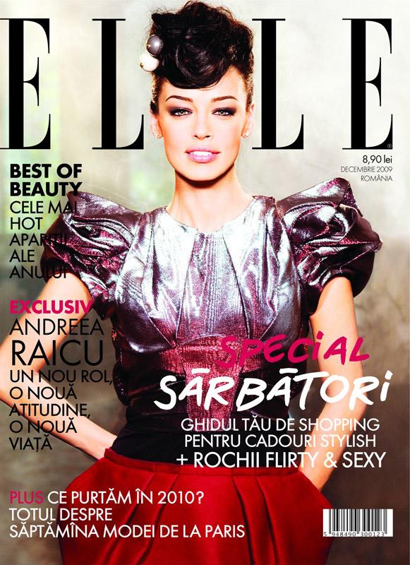 Elle Romania ~~ Coperta: Andreea Raicu ~~ Decembrie 2009