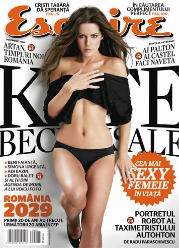 Esquire Romania ~~ Coperta: Kate Beckinsale ~~ Decembrie 2009