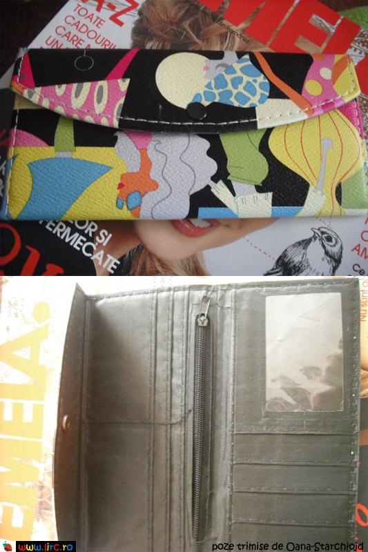 Detalii ale portofelului PopArt, cadou la revista FEMEIA. ~~ Decembrie 2009
