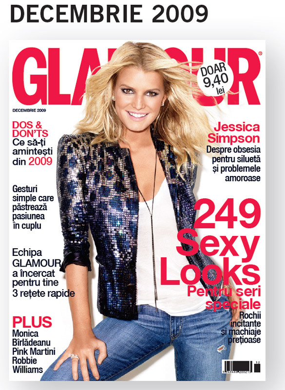 Glamour Romania ~~ Cover girl: Jessica Simpson ~~ Decembrie 2009