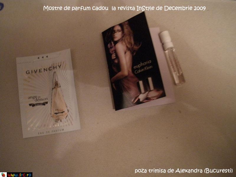 Mostre de parfumuri cadou la InStyle ~~ Decembrie 2009