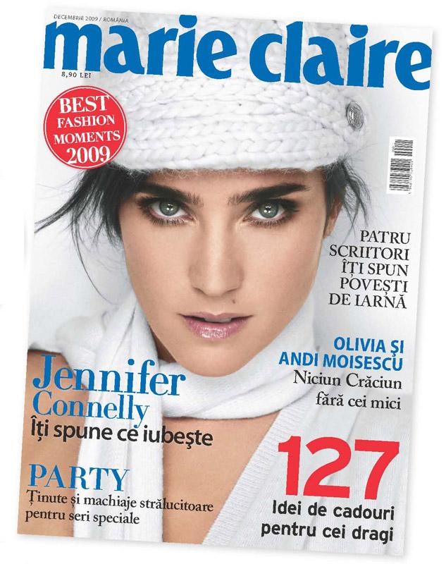 Marie Claire Romania ~~ Coperta: Jennifer Connelly ~~ Decembrie 2009