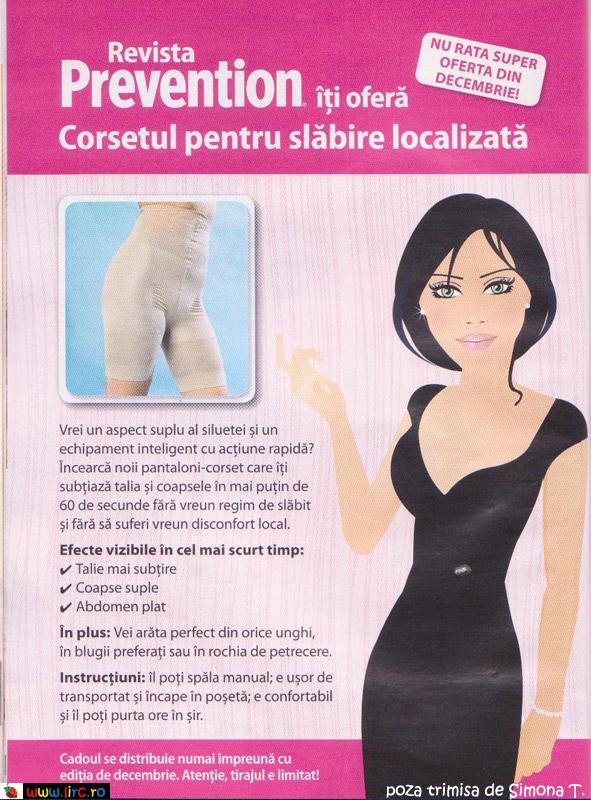Promo la pantalonii-corset de la Prevention, Decembrie 2009