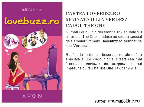 The One ~~ Cadou cartea lovebuzz.ro de Iulia Verdesz