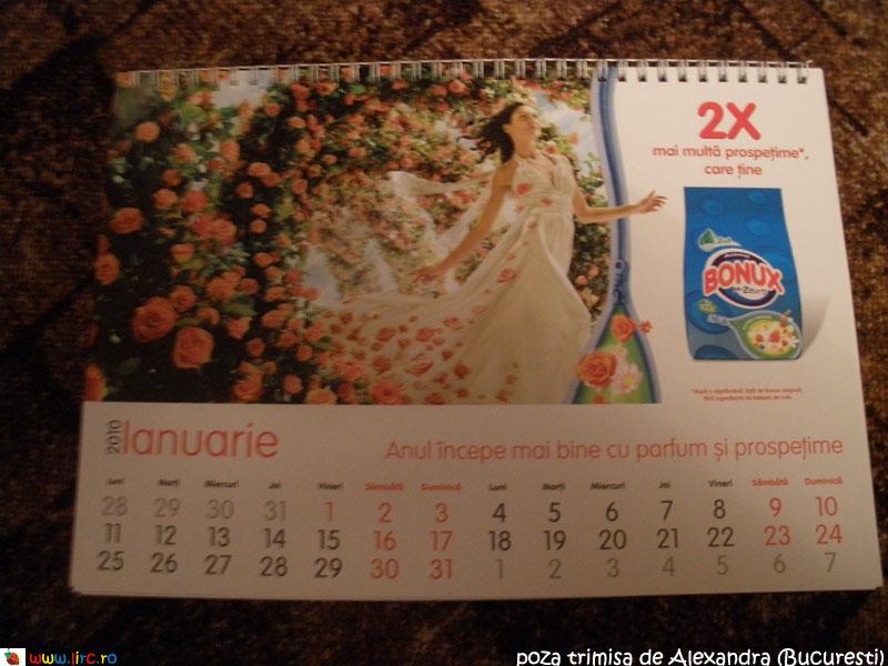 Calendarul Bonux 2010, cadou la revista Libertatea pentru femei ~~ Decembrie 2009