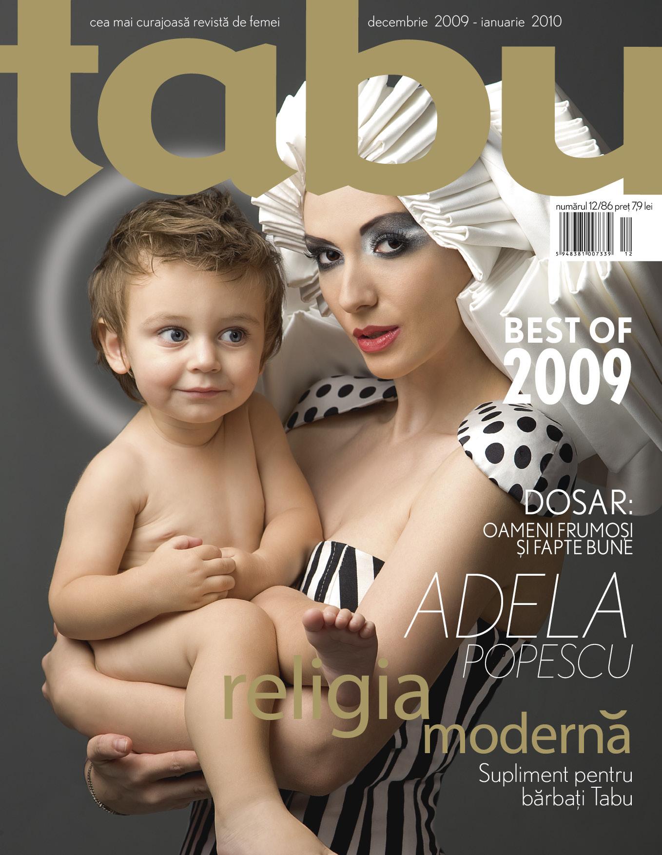 Tabu ~~ Coperta: Adela Popescu ~~ Decembrie 2009 - Ianuarie 2010