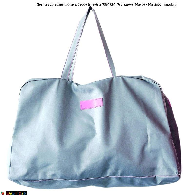 Geanta supradimensionata, cadou la revista FEMEIA. Frumusete, Martie - Mai 2010 (model 1)