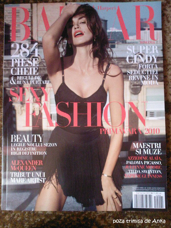 Harper\'s Bazaar Romania ~~ Cover girl: Cindy Crawford ~~ Primavara 2010