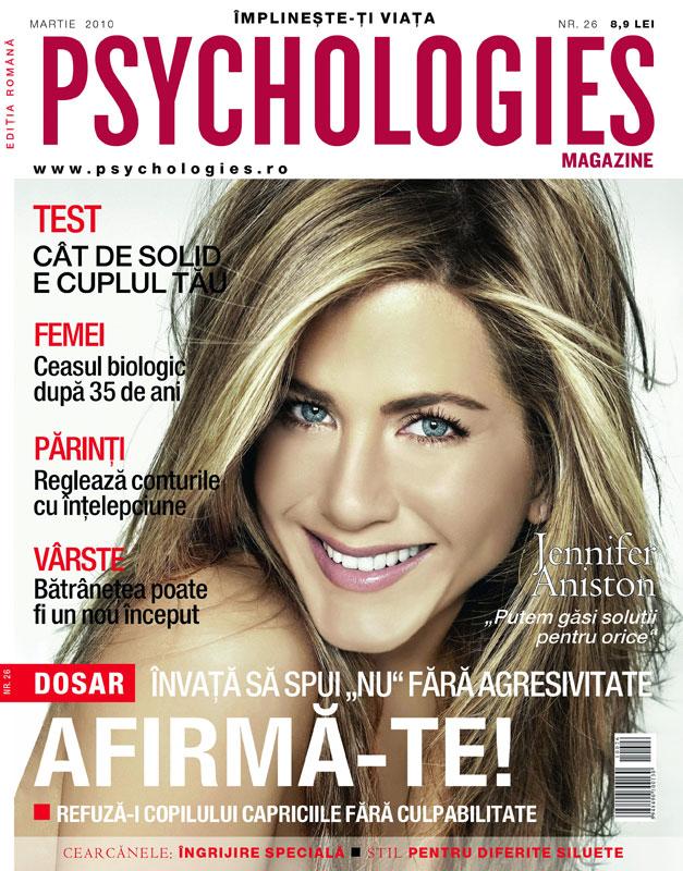 Psychologies ~~ Coperta: Jennifer Aniston ~~ Martie 2010