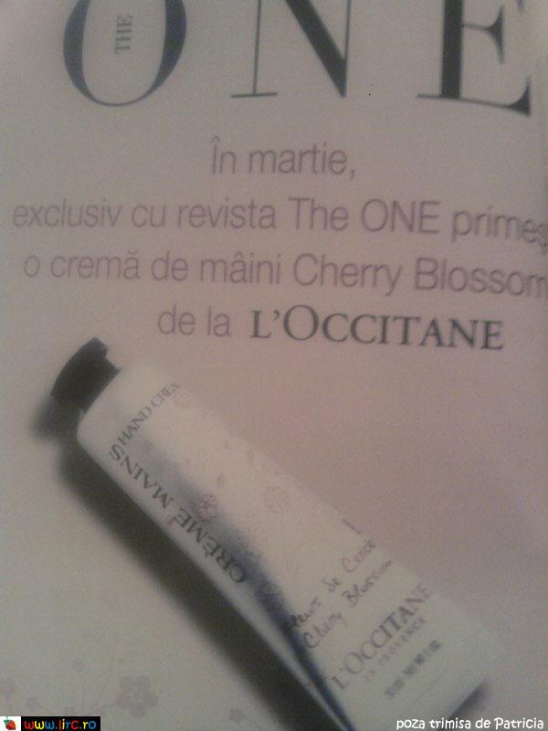 The One ~~ Promo cadou crema de maini L\'Occitane Cherry Blossom ~~ Martie 2010