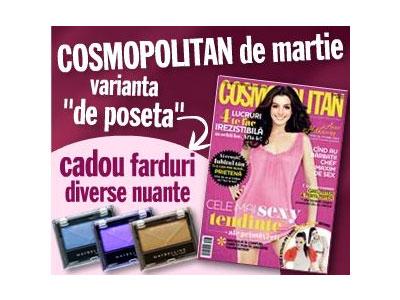 Promo Cosmopolitan Pocket Size si cadoul Maybelline far de ochi ~~ Martie 2010