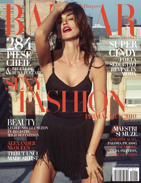 Harper\'s Bazaar Romania ~~ Cover girl: Cindy Crawford ~~ Primavara 2010