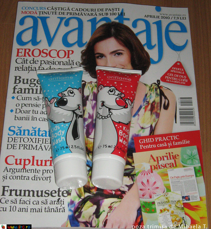 Avantaje ~~ Kids Body Wash dela Oriflame ~~ Aprilie 2010