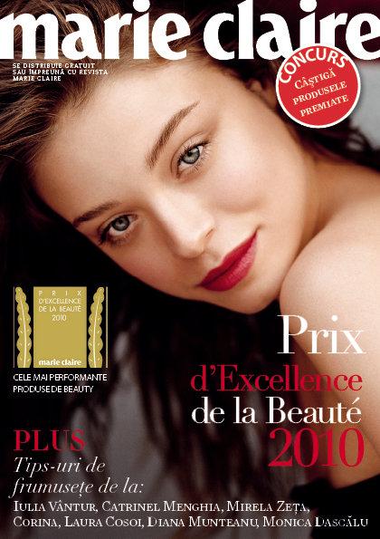 Suplimentul de frumusete Marie Claire Prix d´Excellence de la Beauté  ~~ Aprilie 2010