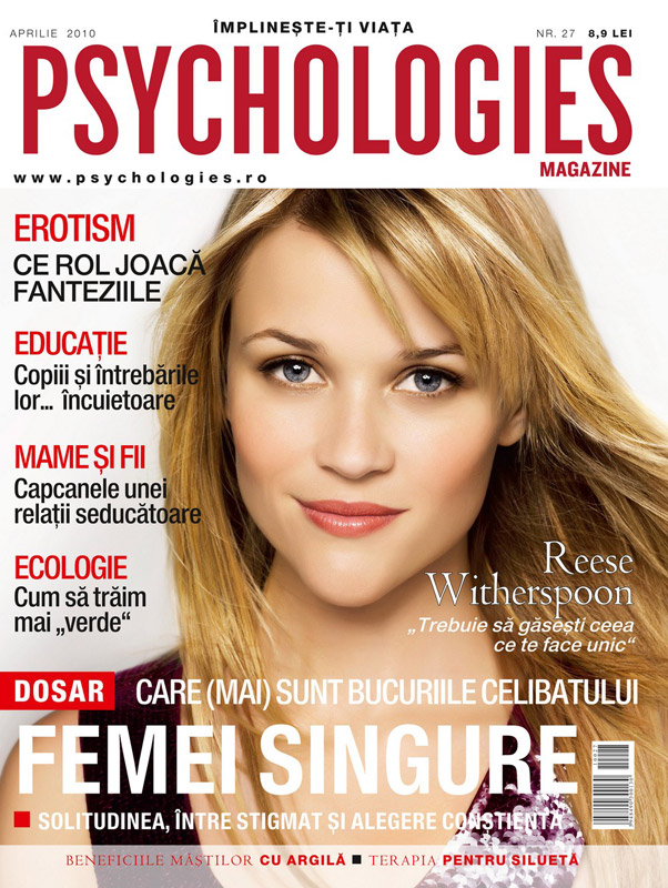 Psychologies ~~ Reese Witherspoon  ~~ Aprilie 2010