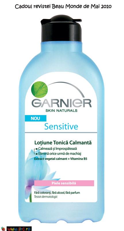 Lotiune tonica calmanta din gama Sensitive de la Garnier Skin Naturals ~~ cadou Beau Monde Style ~~ Mai 2010