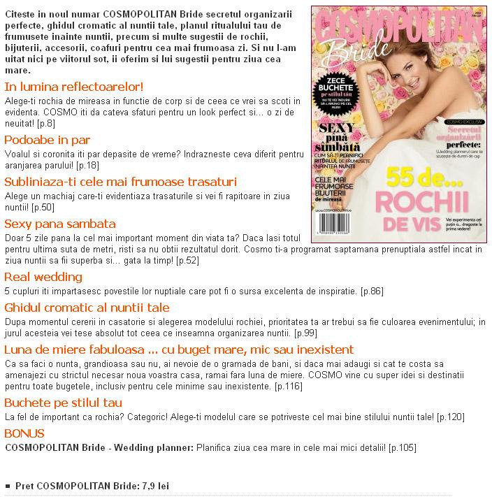 Cosmopolitan Bride ~~ 2010