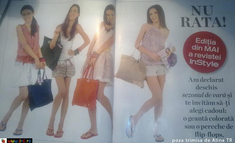 InStyle ~~ Promo cadou geanta colorata sau flip-flops ~~ Mai 2010