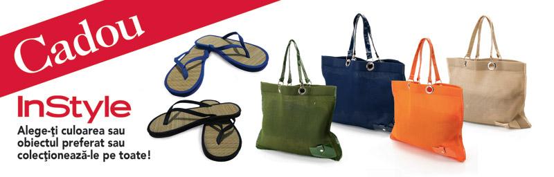 InStyle ~~ Promo cadourile lunii Mai: geanta colorata de vara sau flip-flops ~~ Mai 2010