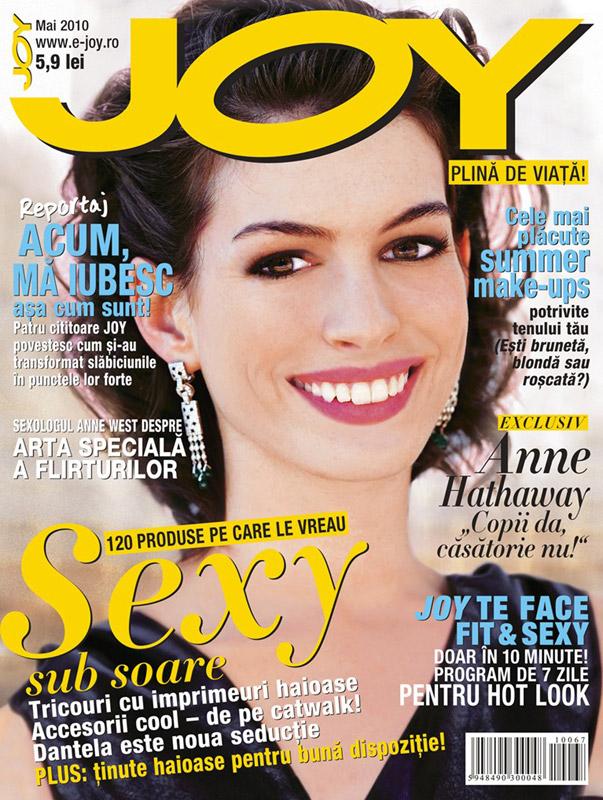 Joy ~~ Coperta: Anne Hathaway ~~ Mai 2010