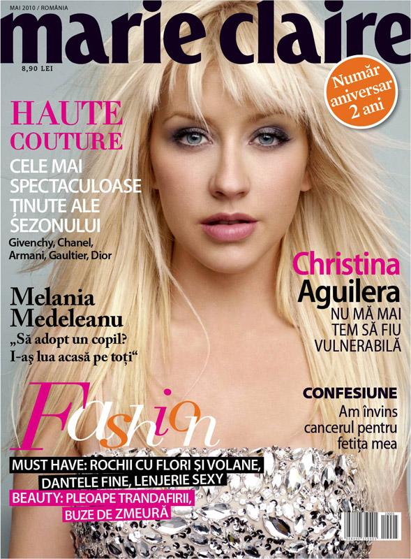 Marie Claire Romania ~~ Christina Aguilera ~~ Mai 2010