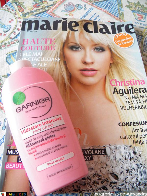 Lapte de corp Hidratare Intensiva de la Garnier Skin Naturals ~~ cadou la Marie Claire Romania ~~ Mai 2010