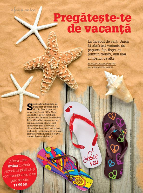 Unica ~~ Promo papuci de plaja ~~ Iunie 2010