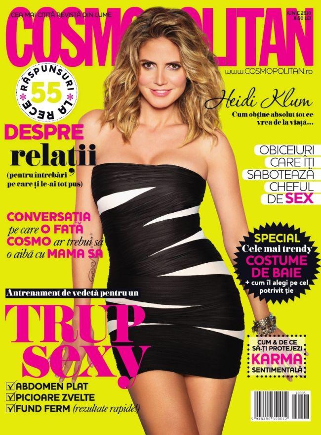 Cosmopolitan Romania ~~ Cover girl: Heidi Klum ~~ Iunie 2010