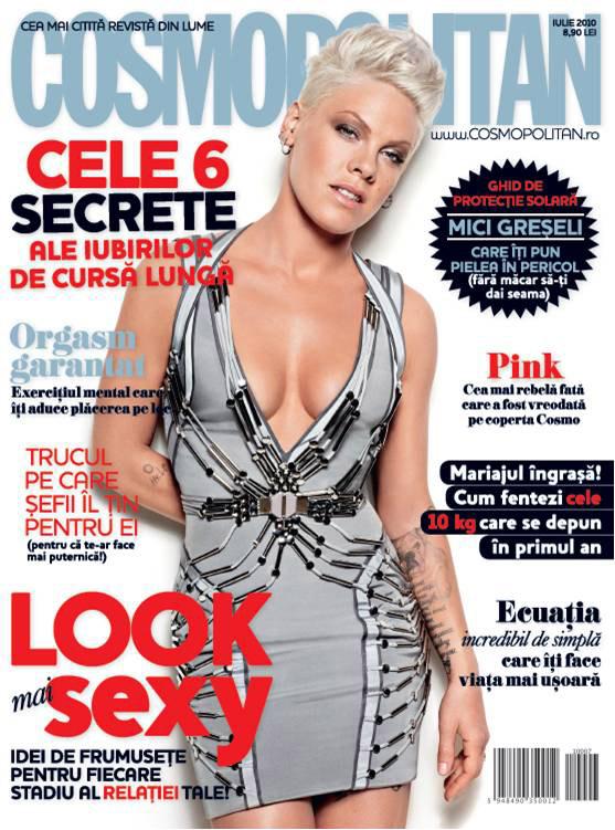 Cosmopolitan Romania ~~ Cover girl: Pink ~~ Iulie 2010