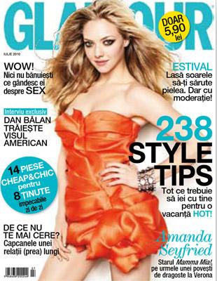 Glamaour Romania ~~ Cover girl: Amanda Sayfried ~~ Iulie 2010