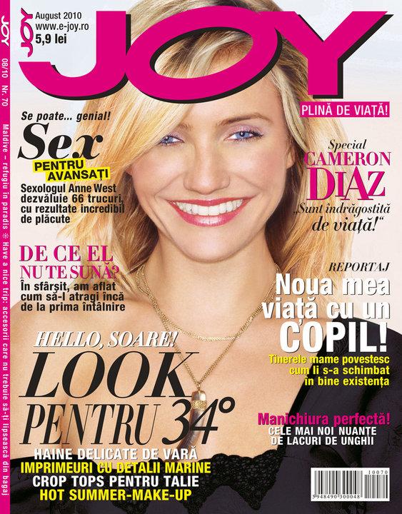 Joy ~~ Cover girl: Cameron Diaz ~~ August 2010