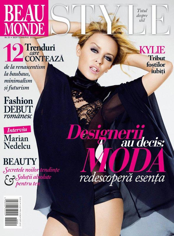 Beau Monde Style ~~ Cover girl: Kylie Minogue ~~ Septembrie 2010