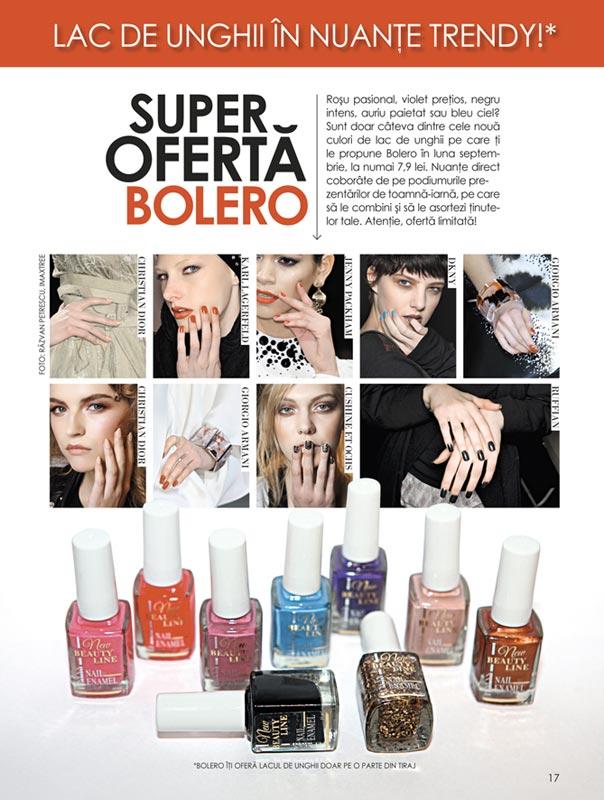 Bolero ~~ Promo cadou lacuri de unghii in 7 nuante la moda ~~ Septembrie 2010