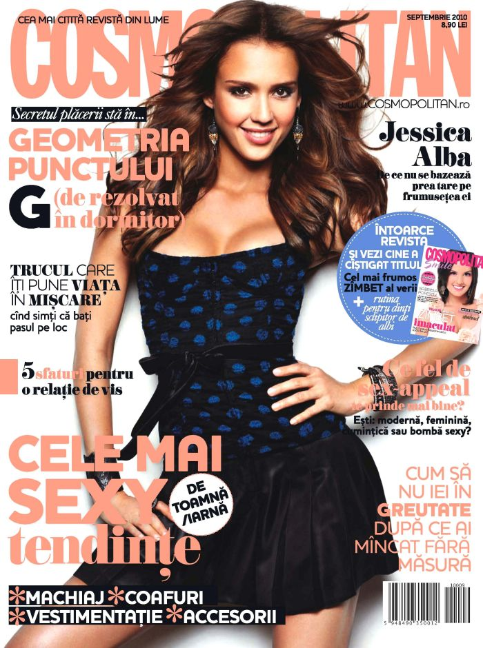 Cosmopolitan Romania ~` Cover girl: Jessica Alba ~~ Septembrie 2010