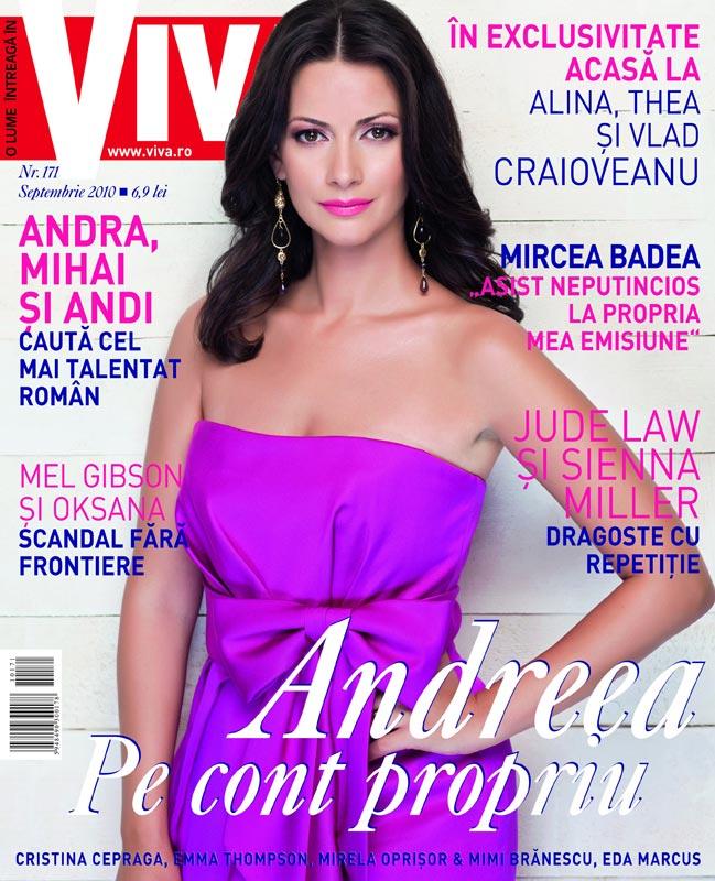 Viva! ~~ Coperta: Andreea Berecleanu ~~ Septembrie 2010