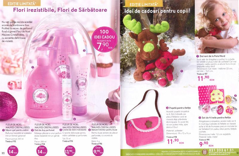 Brosura Yves Rocher: Straluciti de Sarbatori! ~~ Idei de cadouri pentru fetite ~~ Noiembrie 2012 - Ianuarie 2013