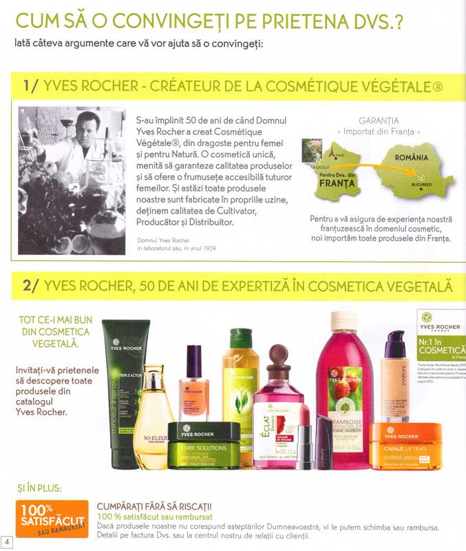 Yves Rocher ~~ Brosura Recomandare ~~ Pagina 4 ~~ 2012