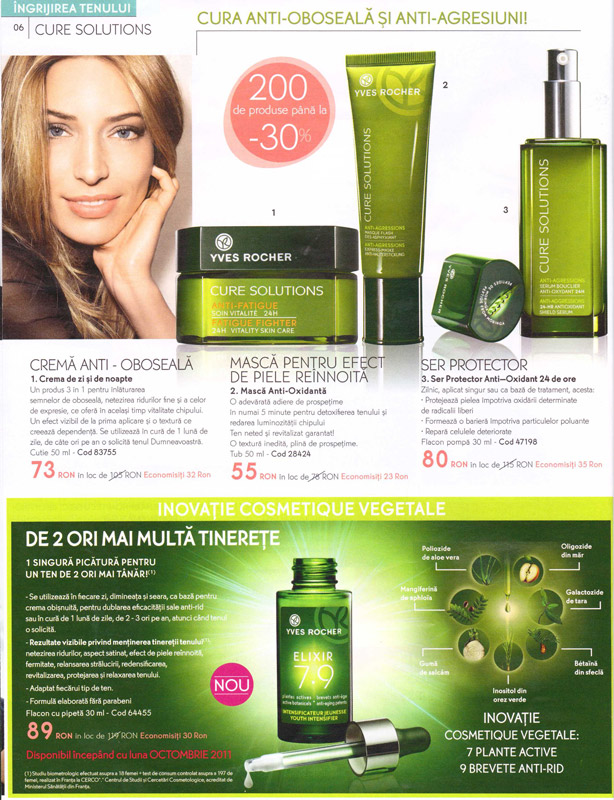 Yves Rocher ~~ Revista Frumusetii Toamna - Iarna 2011-2012 ~~ Pagina 6