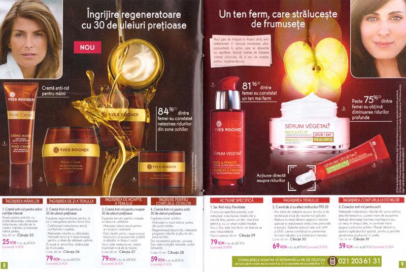 Brosura Yves Rocher France ~~ Gama Riche Creme si Serum Vegetal ~~ Septembrie-Noiembrie 2013