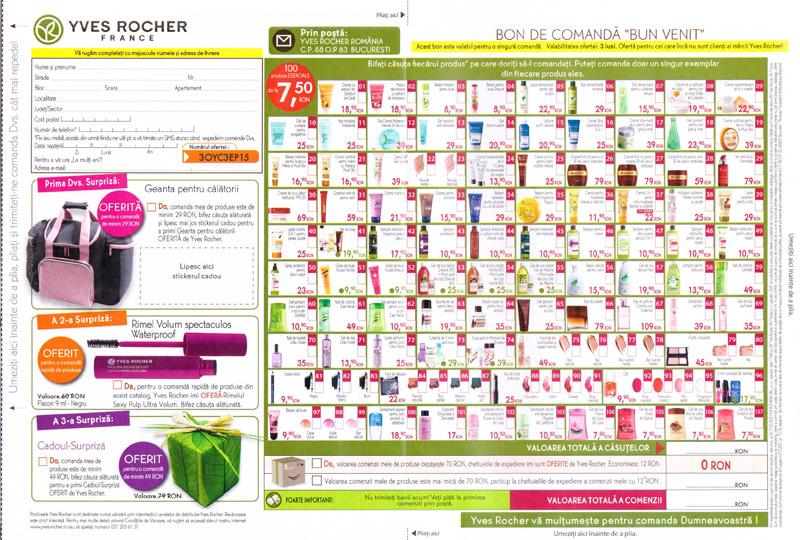 Brosura Yves Rocher France ~~ Bon de comanda ~~ Septembrie-Noiembrie 2013