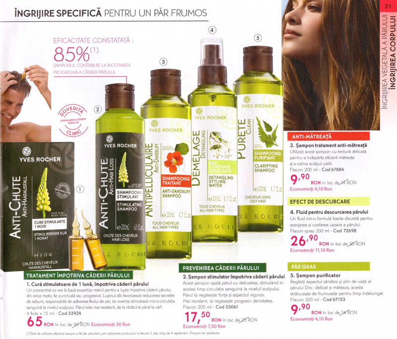 Yves Rocher ~~ Revista Frumusetii ~~ Primavara-Vara 2012 ~~ Ingrijirea vegetala a parului