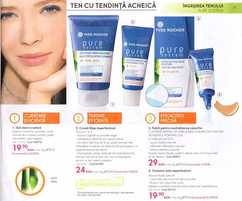 Catalog Yves Rocher ~~ Revista Frumusetii Toamna-Iarna 2012-2013 ~~ Oferte pentru ingrijirea tenului cu tendinta acneica