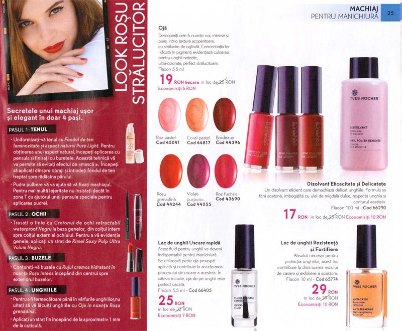 Catalog Yves Rocher ~~ Revista Frumusetii Toamna-Iarna 2012-2013 ~~ Reduceri pentru produsele de manichiura