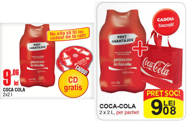 CD si sacosa Coca-Cola, campanie cu cadou vara 2014