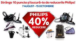 Promotie Carrefour cu puncte de fidelizare la electrocasnice Philips [2014]